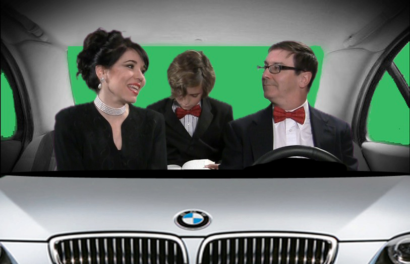 """Actors-Cheryl-Ariaz-Wicker-Jackson-Culp-and-Stewart-Macnab-L-R-in-a-videotaped-green-screen-segment-for-""""A-Christmas-to-Remember"""""""