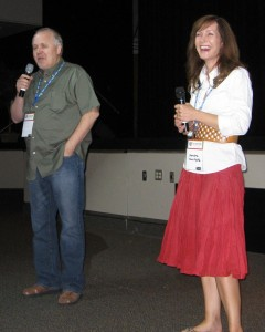 "Brian Bird and Sandra Van Natta at ""The Shunning"" Q&A"