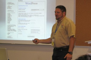 "Brian Stewart discussing ""Content Hosting: Getting Your Stuff Out There & Getting Paid For It Too!"" at 2011 Gideon."