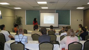 Christian Movie Connect's Cheryl Wicker shares her expertise with 2011 Gideon workshop participants.