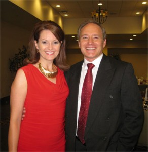 Actor Gary Moore with Anita Dordell at the 2011 Gideon banquet (Photo credit: Donna Botts)