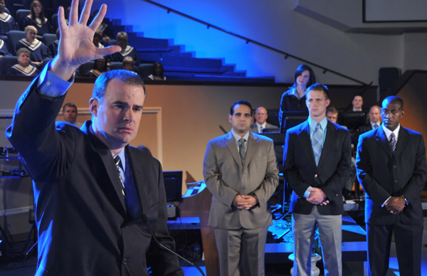 """Courageous,"" starring Alex Kendrick, is a film about faith and fatherhood."