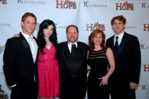 """New Hope"" cast with Rodney and Jill Ray at red carpet premiere"