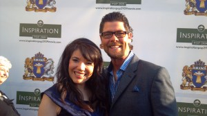Jason Crabb and Cheryl Ariaz Wicker on the red carpet of Inspiration POP 2929 movie premiere